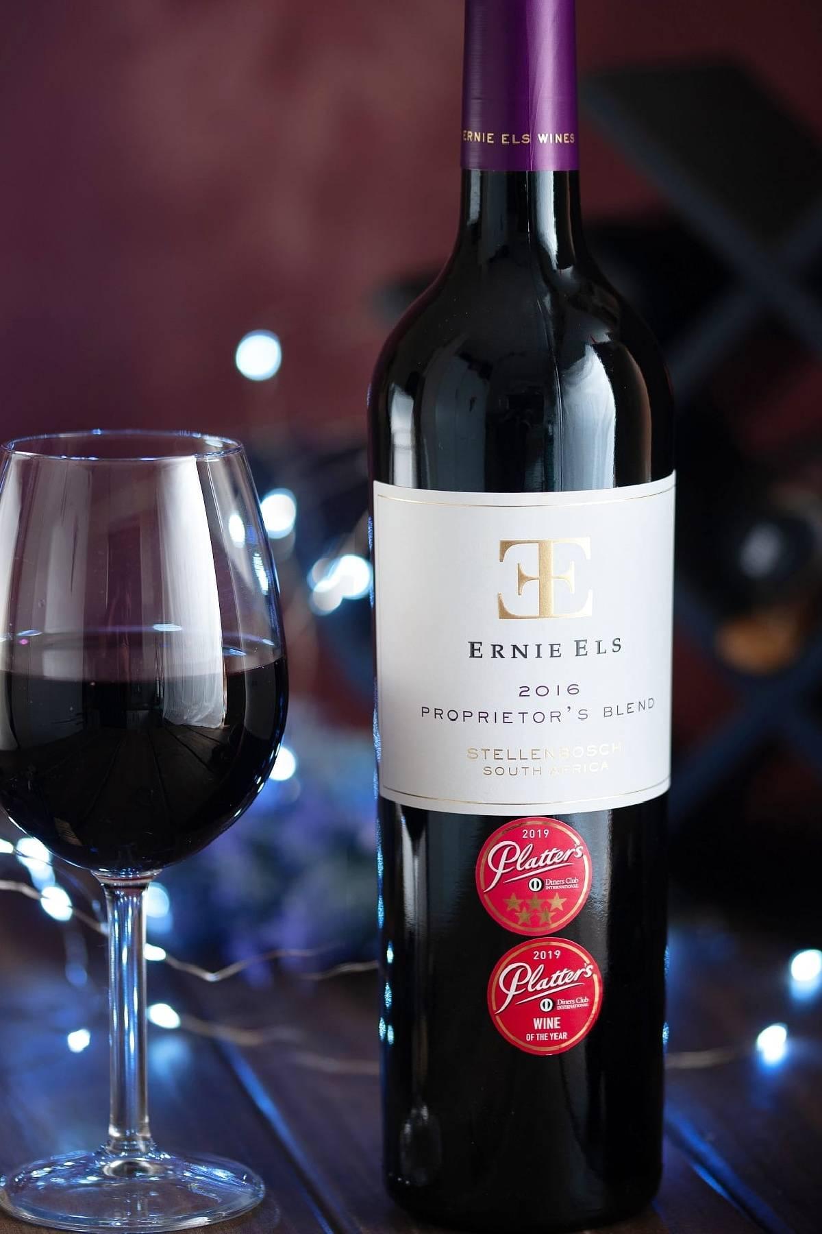 Ernie Els Proprietor's Blend 2016 Platter 5 star met glas