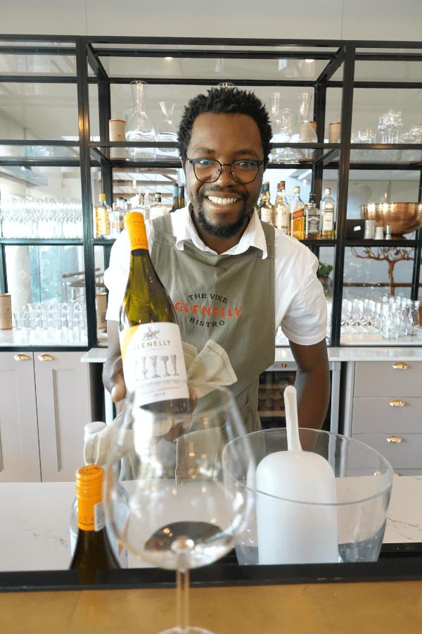 Glenelly Chardonnay tasting room