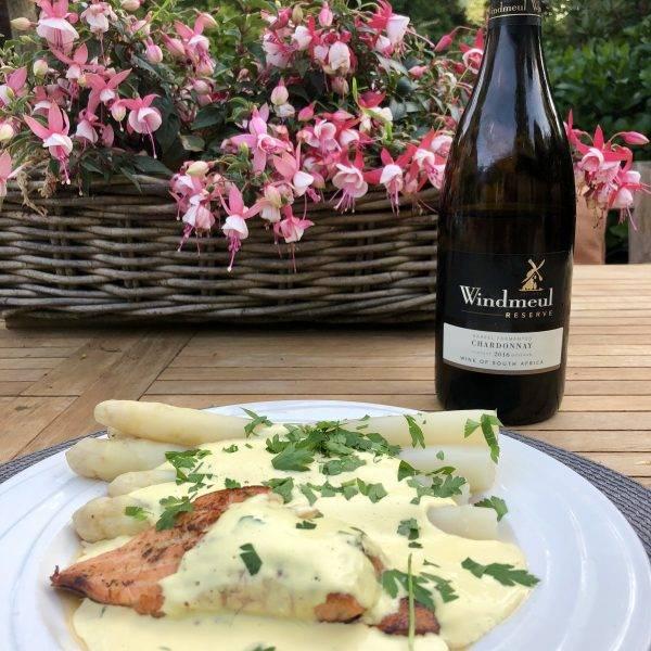 Windmeul Reserve Chardonnay met asperges