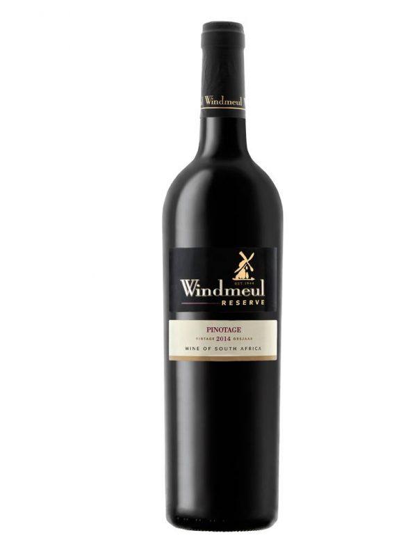 Top pinotage van Windmeul, zuidafrikaanse wijn, Platter 4.5