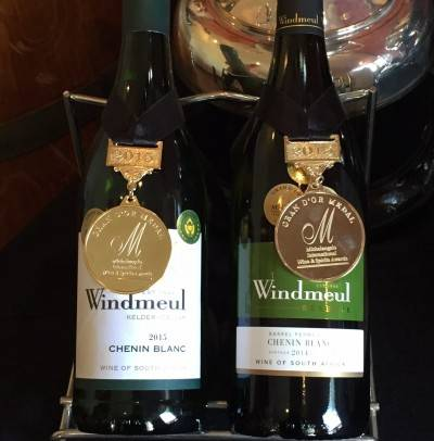 Windmeul Chenin Blancs met awards