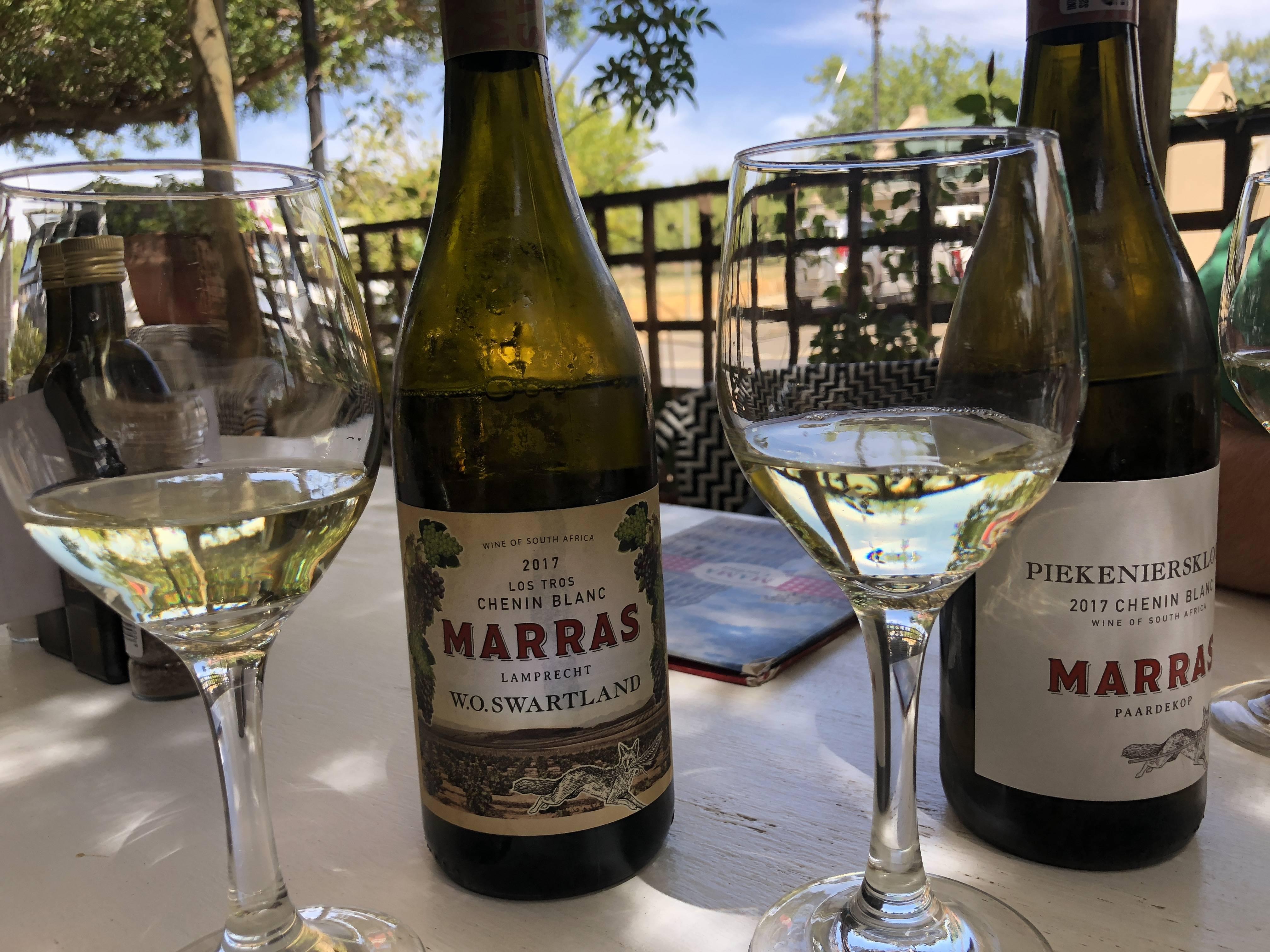 Zuid Afrikaanse Chenin Blanc Swartland en Piekenierskloof Marras