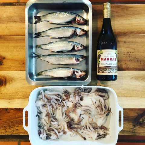 Zuid Afrikaanse Chenin Blanc uit Swartland van Marras. Wijn -spijs inspiratie