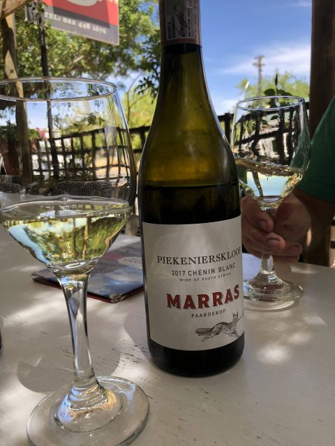 Zuid Afrikaanse wijnen -Chenin Blanc van Marras- Piekenierskloof