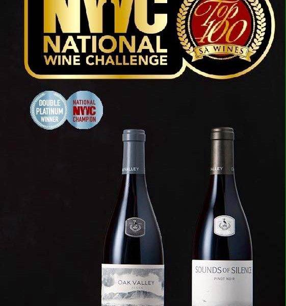 Oak Valley Awards Pinot Noir - Top 100 SA Wines Champion en Double Platinum Winner