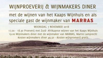 Wijnmakersdiner Marras De Wilmersberg 7 november 2018