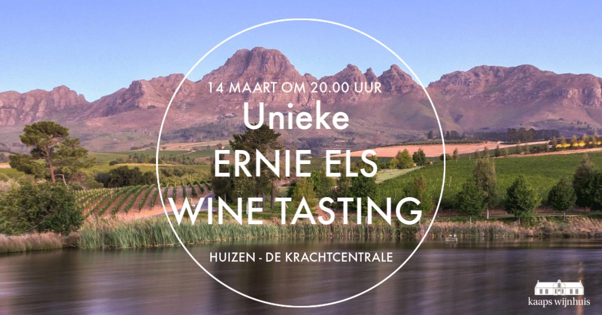 Unieke Ernie Els Wine Tasting 14 maart