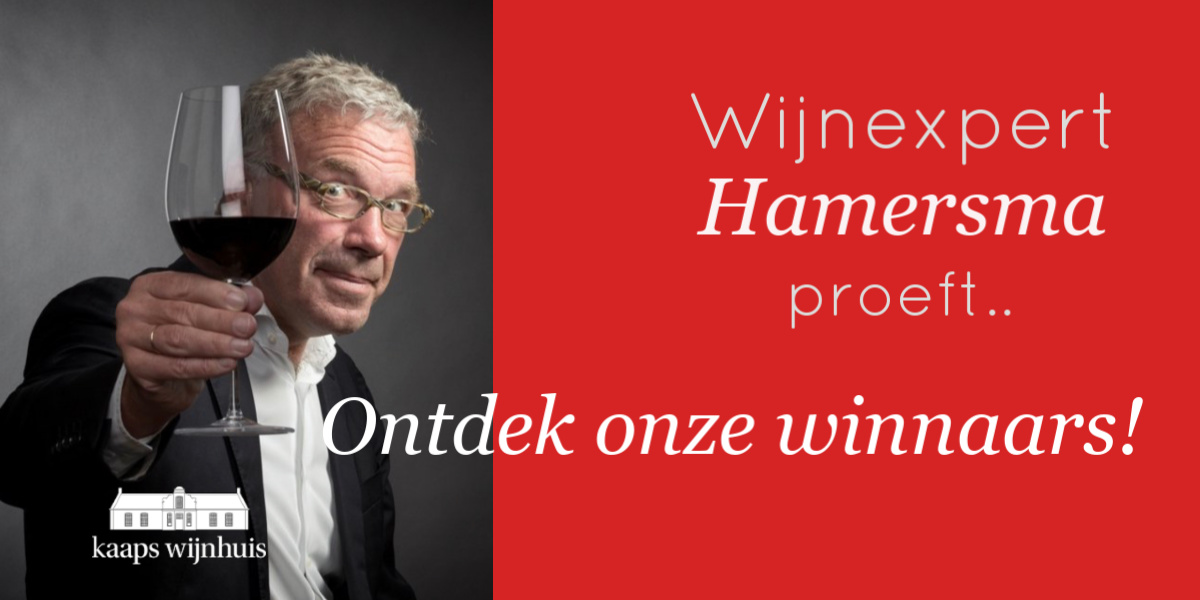 Hamersma proeft voor De Grote Hamersma wijngids 2019 - Winnaars Kaaps Wijnhuis