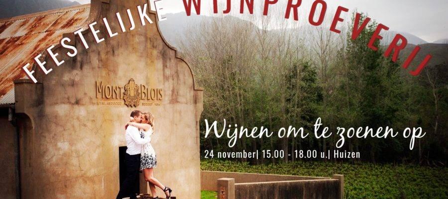 Feestelijke wijnproeverij Kaaps Wijnhuis 24 november krt