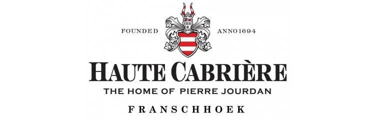 Haut Cabrière Chardonnay Pinot Noir; de 'stille Champagne' van dit wijn huis uit Franschhoek in Zuid-Afrika.