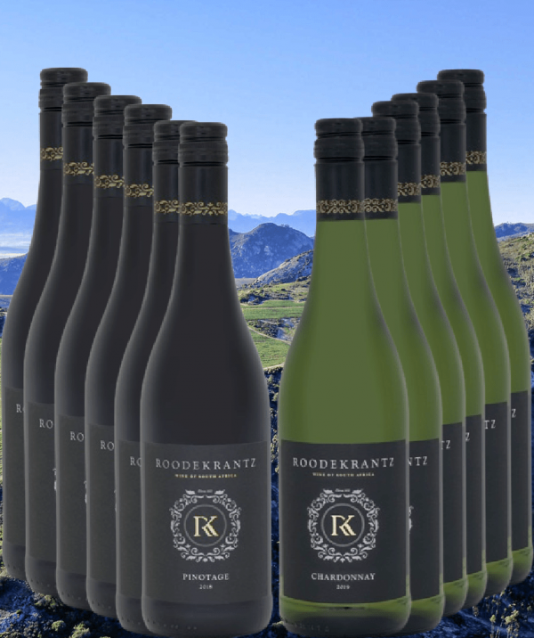 Roodekrantz Wijnpakket Chardonnay en Pinotage