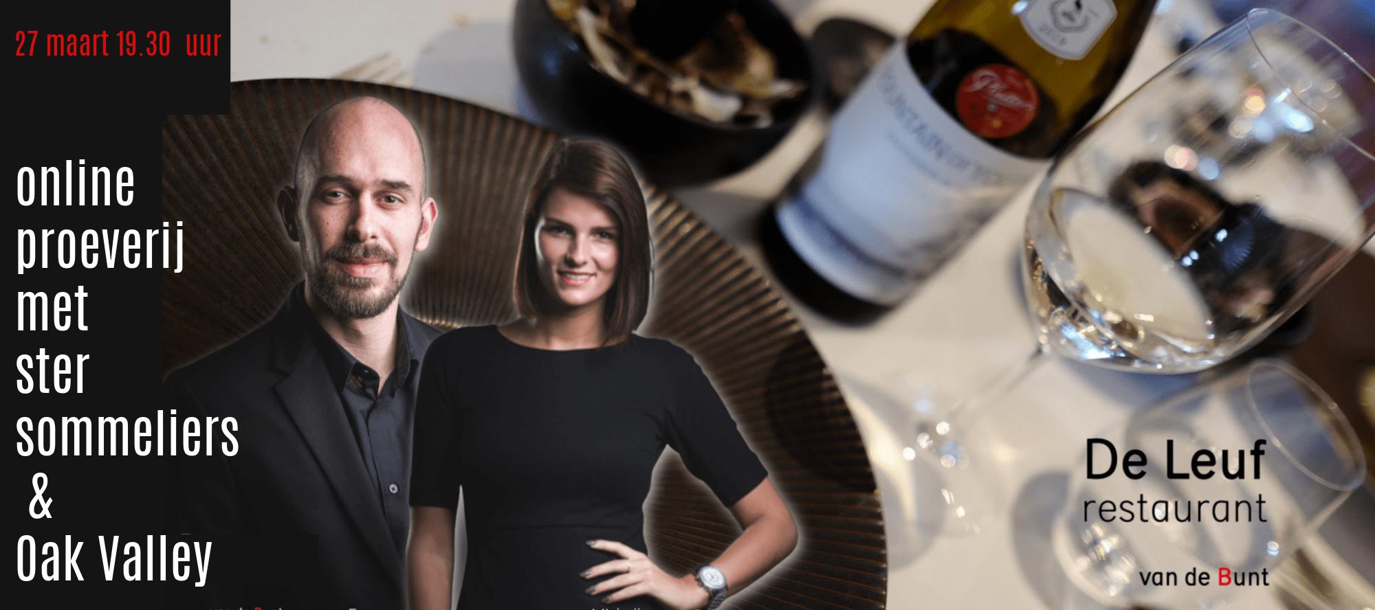 Online wijnproeverij Oak Valley en De Leuf