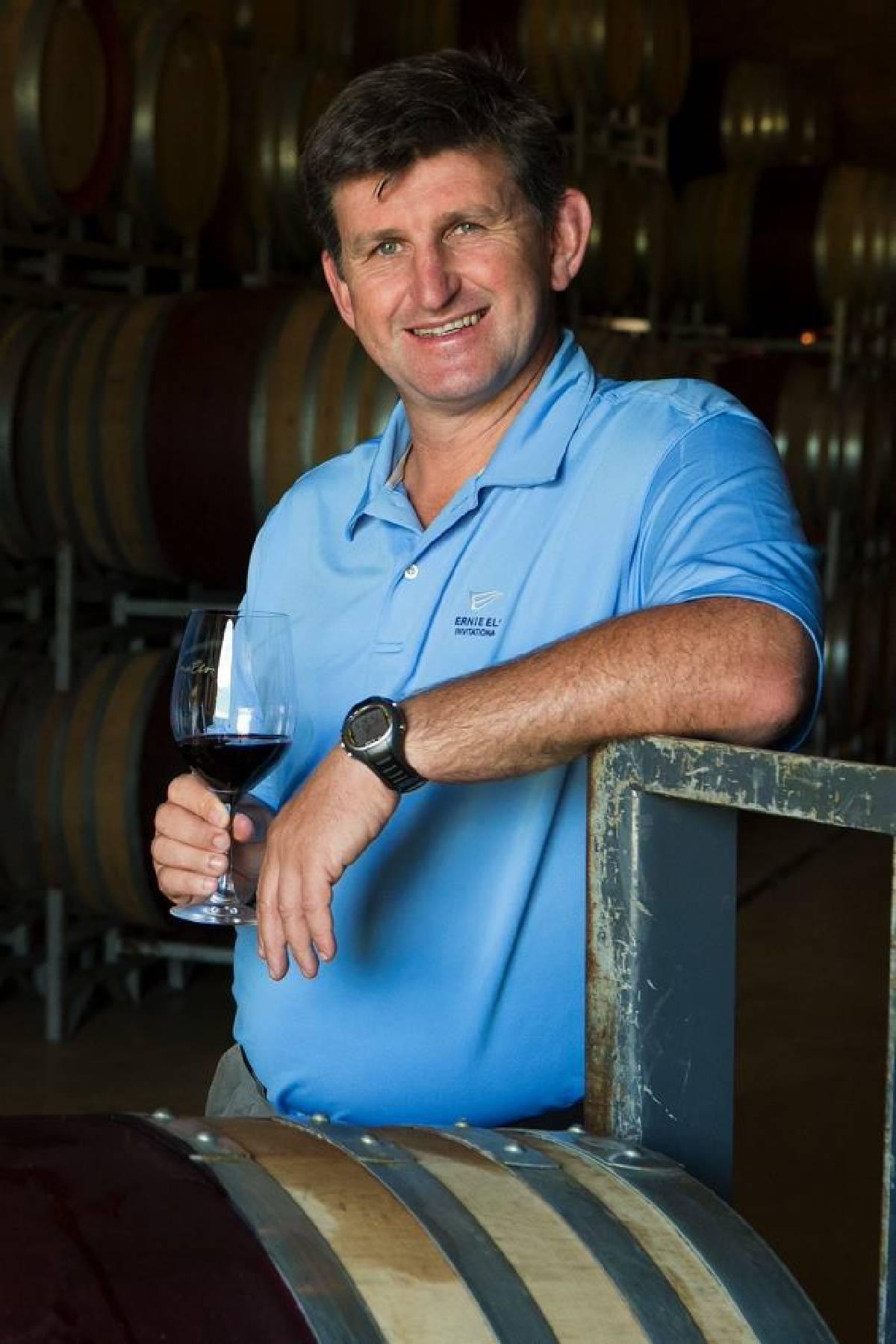 Ernie Els wijnmaker Louis Strydom